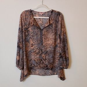 Juicy Couture Blush/Black Silky Sheer Pullover (M)
